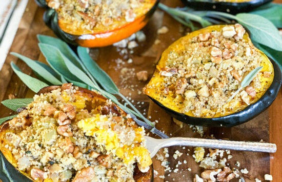 Guest Chef Megan Gregory of The Culinary Nest – Roasted Acorn Squash with Herbed Apple Couscous